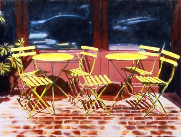 219.Cafe Chairs #6 36 x 48